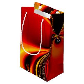 Flaming Orange Small Gift Bag