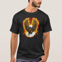 Flaming Patriotic Bald Eagle T-shirts