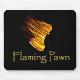 Flaming Pawn Mouse Pad