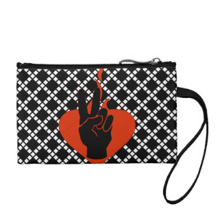 Flaming Peace Heart Coin Wallet