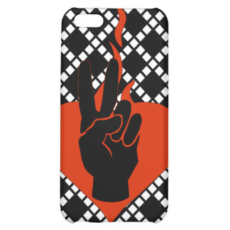 Flaming Peace Heart iPhone 5C Cover