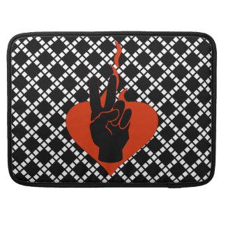 Flaming Peace Heart MacBook Pro Sleeves