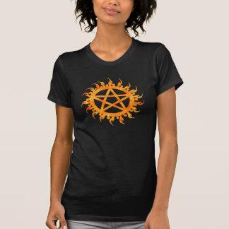 Flaming Pentagram Shirt