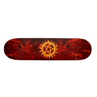 Flaming Pentagram Skateboard