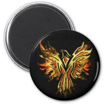 Flaming Phoenix magnet