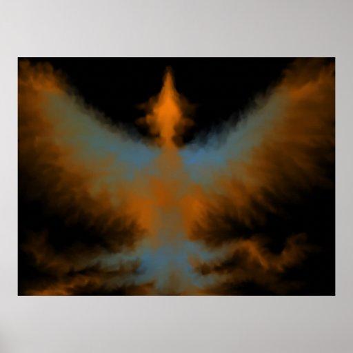 Flaming Phoenix Poster