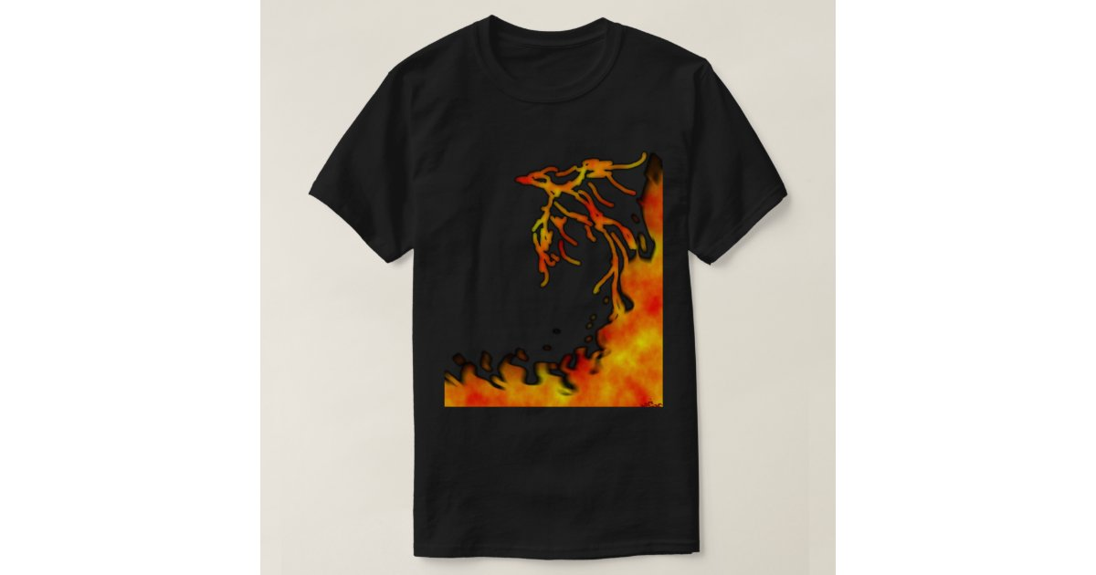 Flaming phoenix t shirt zazzle for Phoenix t shirt printing
