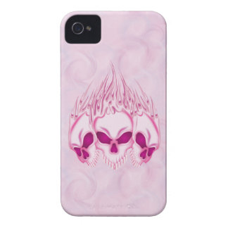 Flaming Pink Skulls iPhone 4 Case-Mate Cases