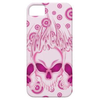Flaming Pink Skulls iPhone 5 Case