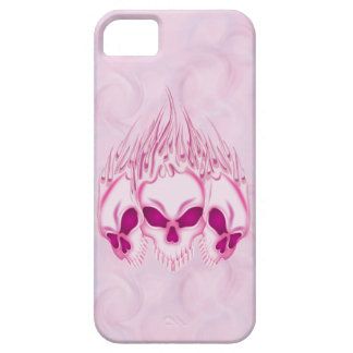 Flaming Pink Skulls iPhone 5 Cases