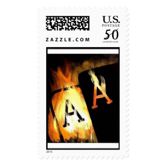 FLAMING POCKET ACES STAMPS
