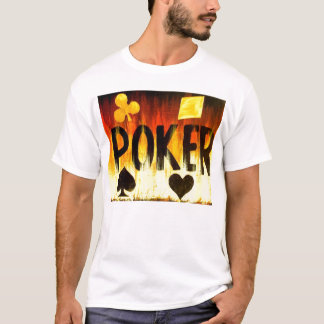 Flaming Poker Suited Design Las Vegas WPT WSOP T-Shirt