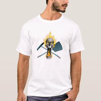 Flaming Pool Boy Skull T-Shirt
