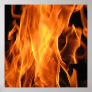 Flaming Poster