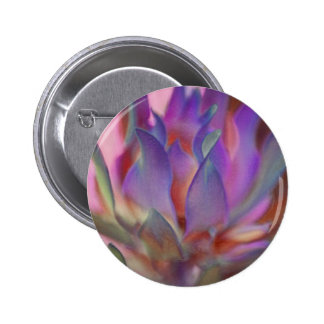 Flaming Protea in Pink and Purple Pinback Button