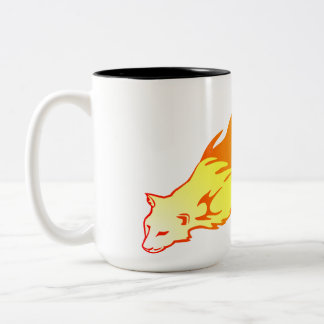 Flaming Puma Two-Tone Coffee Mug