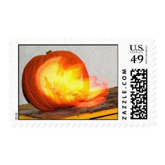 Flaming Pumpkin Stamp