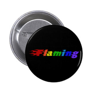 Flaming Rainbow Buttons