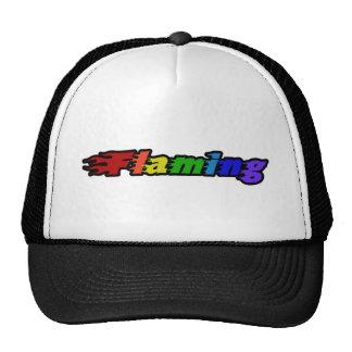 Flaming Rainbow Mesh Hat