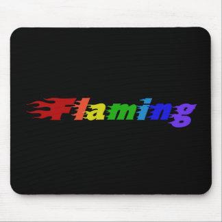 Flaming Rainbow Mousepad