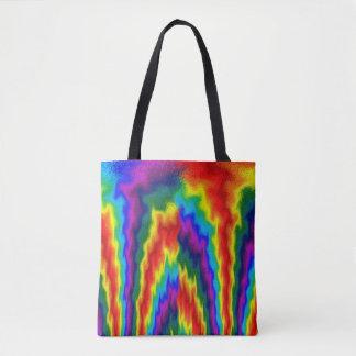 Flaming Rainbow Tote Bag