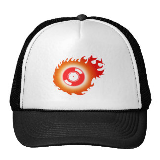 Flaming Record Trucker Hat