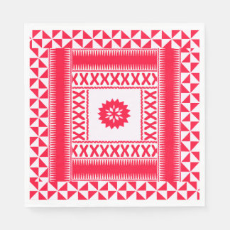 Flaming Red Ethnic Napkins