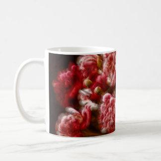Flaming Red Peony Flower Bouquet Coffee Mug