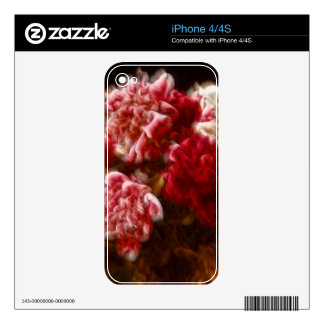 Flaming Red Peony Flower Bouquet iPhone 4 Skin