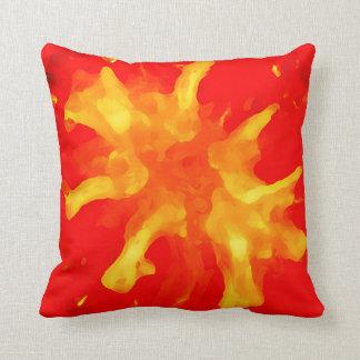 Flaming red pop art tomato throw pillow