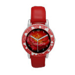 Flaming Red Rose II Wrist Watches
