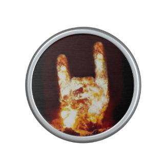 Flaming Rock Sign Speaker