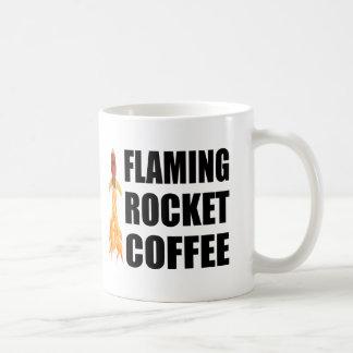 Flaming Rocket Coffee Coffee Mugs