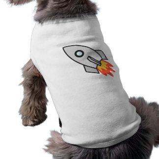 Flaming rocket dog clothing