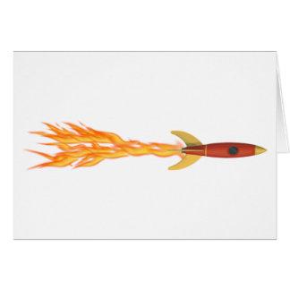 Flaming Rocket Travel Card
