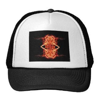 Flaming Rose Kaleidoscope FIre Love Romance Trucker Hat