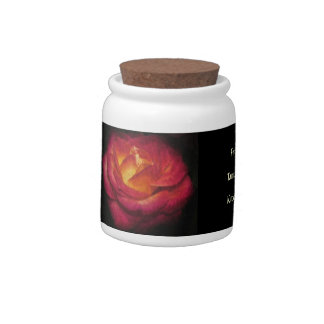 Flaming Rose Oil Painting Candy Dish