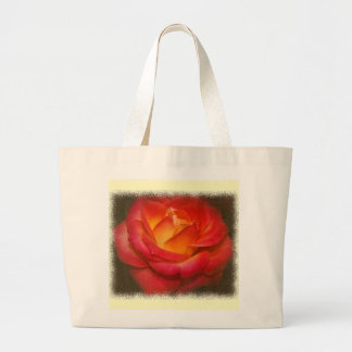 Flaming Rose on Parchment Tote Bag