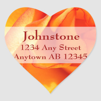 Flaming Rose Wedding Return Address Label