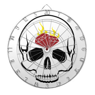 Flaming Rubies Inc. Skull Dartboard