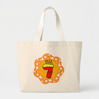 Flaming Seven 7th Birthday Gifts Canvas Bag
