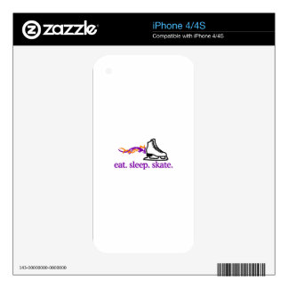 Flaming Skate iPhone 4S Decal