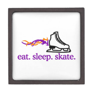 Flaming Skate Keepsake Box