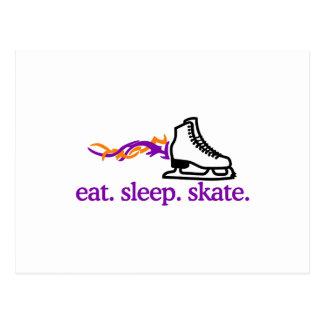 Flaming Skate Postcard