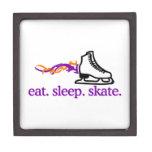 Flaming Skate Premium Keepsake Box