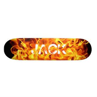 Flaming Skateboard Skate Board