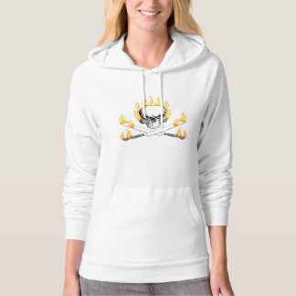 Flaming Skull and Bread Knives Hoodie