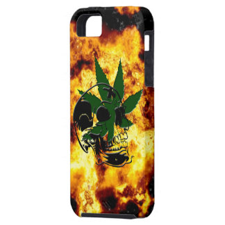 Flaming Skull and Pot Plant iPhone 5 Case