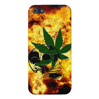 Flaming Skull and Pot Plant iPhone 5 Savvy Case