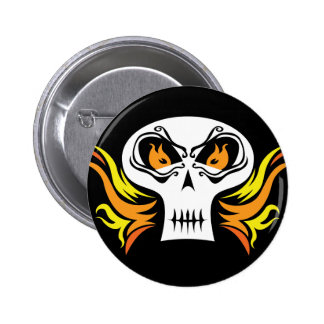 Flaming Skull Pins